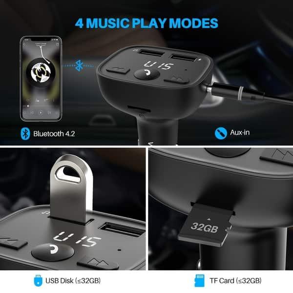 Shop VicTsing Bluetooth FM Transmitter for Car, LED Screen
