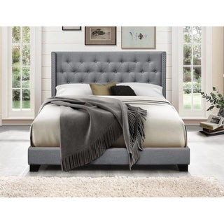 Link to Brady Upholstered Wingback Panel Bed Similar Items in Bedroom Furniture