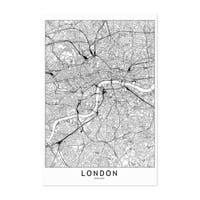 Noir Gallery London Black & White City Map Unframed Art Print/Poster
