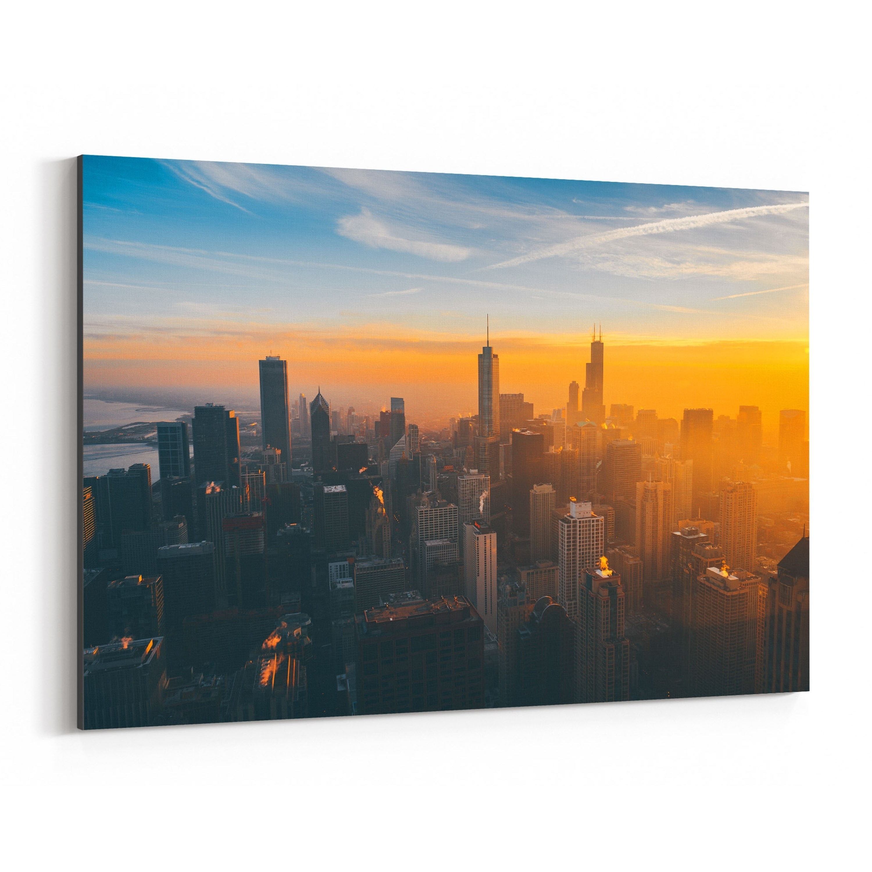 Young Love Sunset Canvas Print Large Picture Wall Print