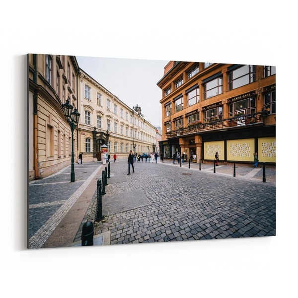 c3609774b80a4 Shop Noir Gallery Prague Cobblestone Old Town Canvas Wall Art Print - Free  Shipping Today - Overstock - 27434002