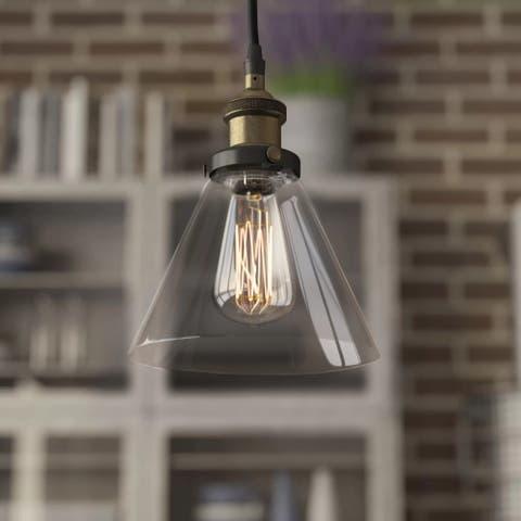 JL Styles Inc Cone Glass Pendant Light