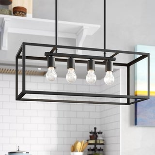 Link to JL Styles Inc Black 4-Light Contemporary Pendant Light Similar Items in Pendant Lights