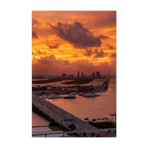 Noir Gallery Miami City Sunrise Florida Unframed Art Print/Poster