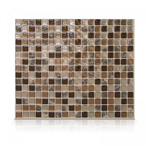 Minimo Roca 11.55 in. x 9.64 in. Peel and Stick Self-Adhesive Decorative Mosaic Wall Tile Backsplash (4-Pack)