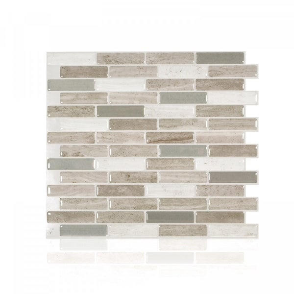 Up To 45 Off Peel Stick Kitchen Backsplash Tile At Walmart: Shop Milenza Vasto 10.20 In. X 9 In. Peel And Stick Self