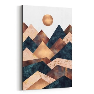Noir Gallery Fall Mountain Geometric Abstract Canvas Wall Art Print