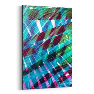 Noir Gallery Abstract Blue & Green Palms Canvas Wall Art Print