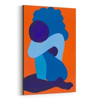 Noir Gallery Abstract Afro Woman Painting Canvas Wall Art Print
