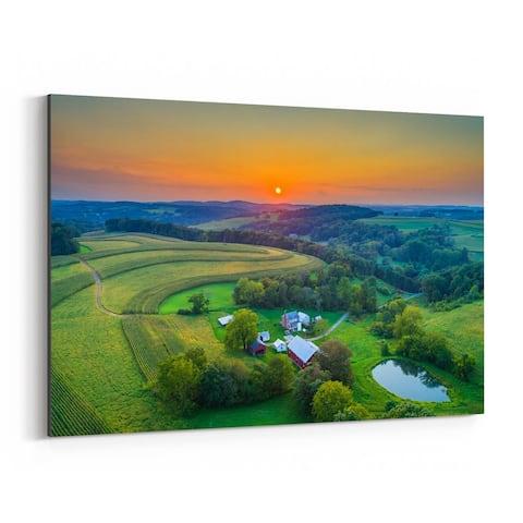 Noir Gallery Pennsylvania Rural Farm Country Canvas Wall Art Print