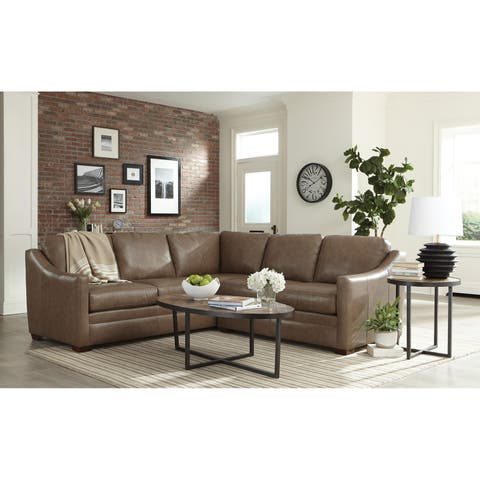 Cordele Two Piece Leather Sectional