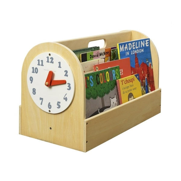 Tidy Books Handmade Portable Wooden Box with Play Clock - Natural