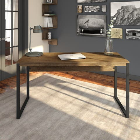 Carbon Loft Jannah Writing Desk in Rustic Brown Embossed