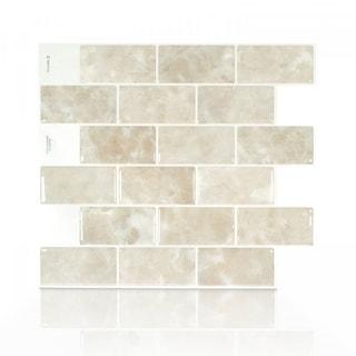 Subway Sora 10.95 in. x 9.70 in. Peel and Stick Self-Adhesive Decorative Mosaic Wall Tile Backsplash (4-Pack)