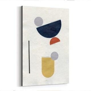 Noir Gallery Abstract Minimal Geometric Shape Canvas Wall Art Print