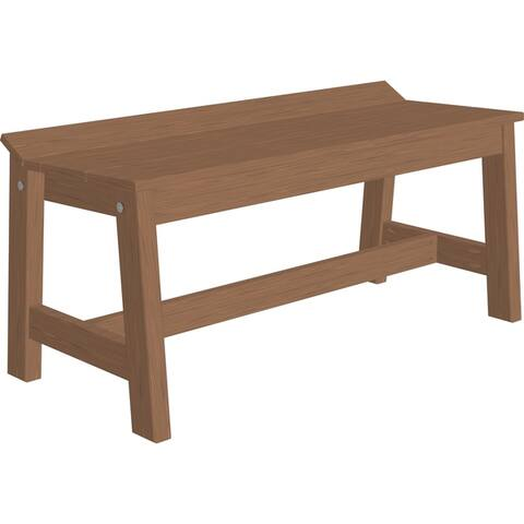 """41"""" Outdoor Café Dining Bench in Woodgrain Colors"""