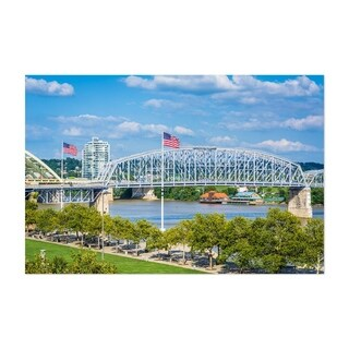 Noir Gallery Cincinnati, Ohio River Bridge Unframed Art Print/Poster
