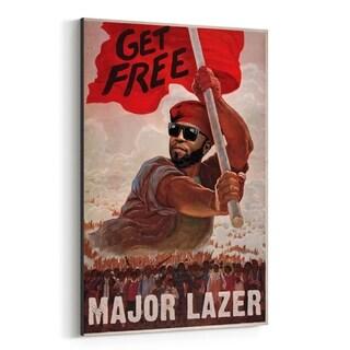 Noir Gallery Major Lazer Music Get Free EDM Canvas Wall Art Print