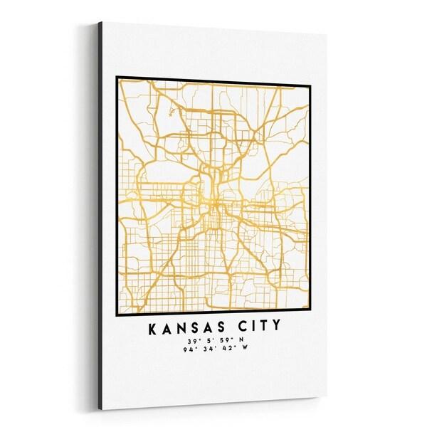 Noir Gallery Minimal Kansas City City Map Canvas Wall Art Print on road map of kansas, antique map of kansas, large map of kansas, physical map of kansas, radon map of kansas, blank map of kansas,