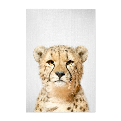Noir Gallery African Cheetah Peekaboo Animal Unframed Art Print/Poster