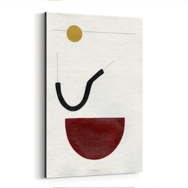 Noir Gallery Abstract Minimal Geometric Line Canvas Wall Art Print