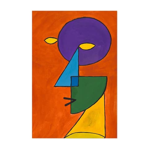 Noir Gallery Abstract Geometric Face Painting Unframed Art Print/Poster