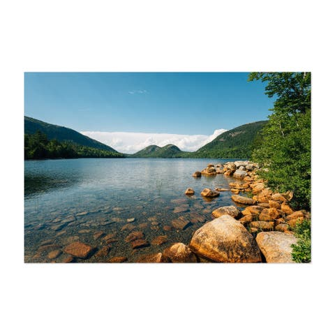 Noir Gallery Jordan Pond Acadia Maine Nature Unframed Art Print/Poster