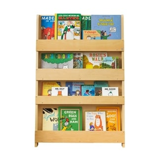 Tidy Books Kid's Handmade Wooden Bookshelf in Water Lacquer Finish - Natural