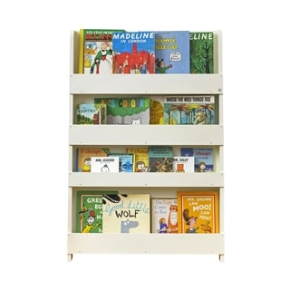 Tidy Books Kid's Handmade Wooden Bookshelf in Water Lacquer Finish - Ivory