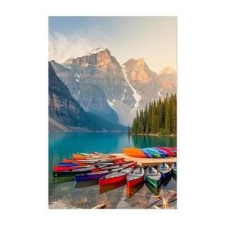 Noir Gallery Moraine Lake Banff Park Alberta Unframed Art Print/Poster