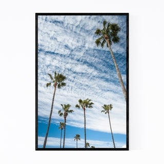 Noir Gallery Palm Trees Newport Beach CA Framed Art Print
