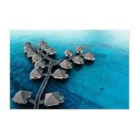 Noir Gallery Bora Bora Beach Coastal Nature Unframed Art Print/Poster