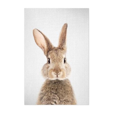 Noir Gallery Rabbit Nursery Peeking Animal Unframed Art Print/Poster