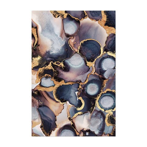 Noir Gallery Abstract Alcohol Ink Painting Unframed Art Print/Poster
