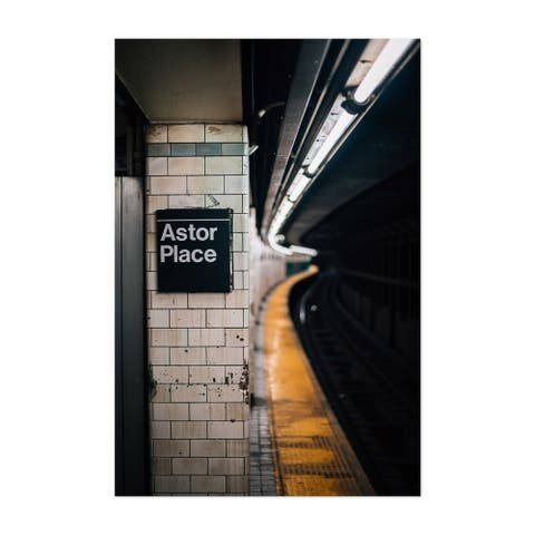 Noir Gallery New York City Subway Astor Place Unframed Art Print/Poster