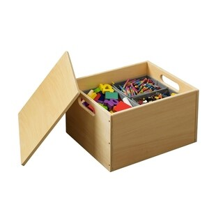Tidy Books Handmade Wooden Toy Storage Sorting Box with Lid - Natural