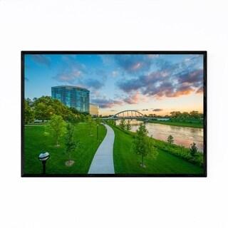 Noir Gallery Columbus, Ohio River Sunset Framed Art Print
