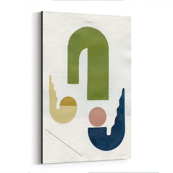 Noir Gallery Abstract Geometric Minimal Shape Canvas Wall Art Print