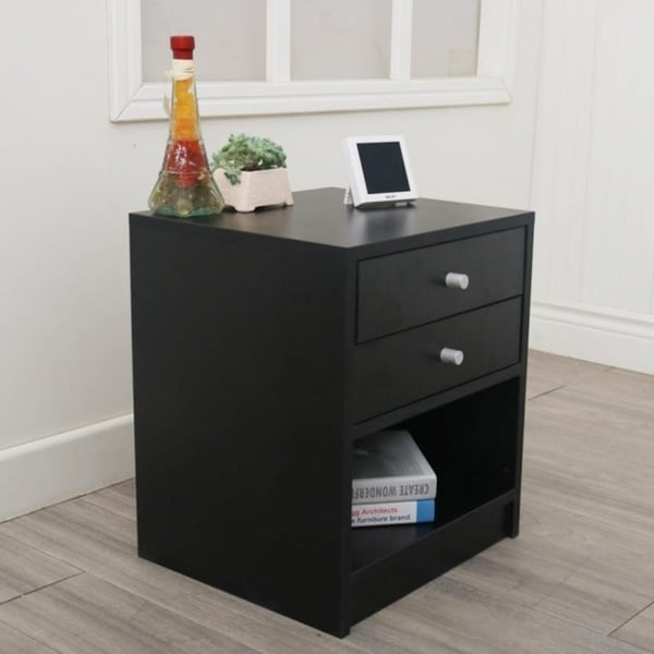 Bedroom Furniture bedside tables Night Stand with Two Drawer