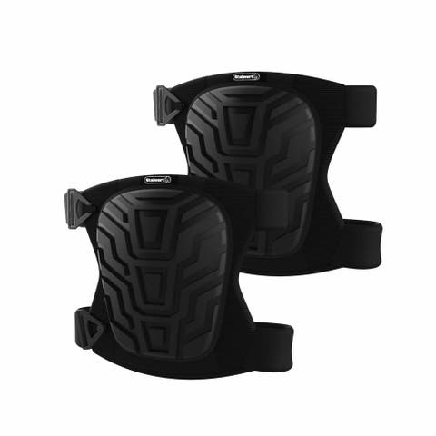 Stalwart Industrial Safety Gear EVA Foam and Gel Plastic Shell Knee Pads with Adjustable Straps