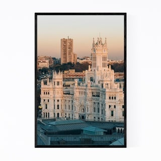 Noir Gallery Madrid Spain City Cybele Palace Framed Art Print