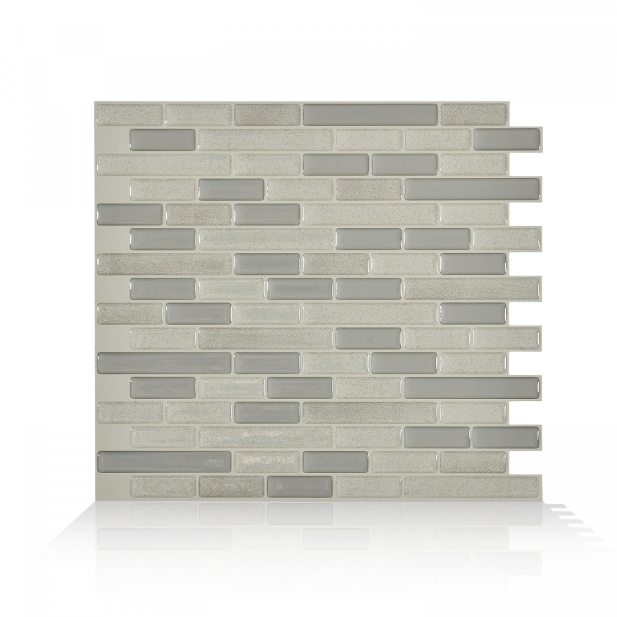 Muretto Beige 10.20 in. x 9.10 in. Peel and Stick Self-Adhesive Decorative  Mosaic Wall Tile Backsplash (4-Pack)