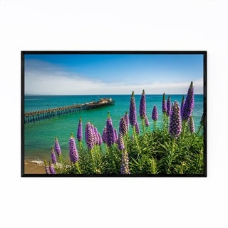 Noir Gallery Coastal Pier Capitola California Framed Art Print