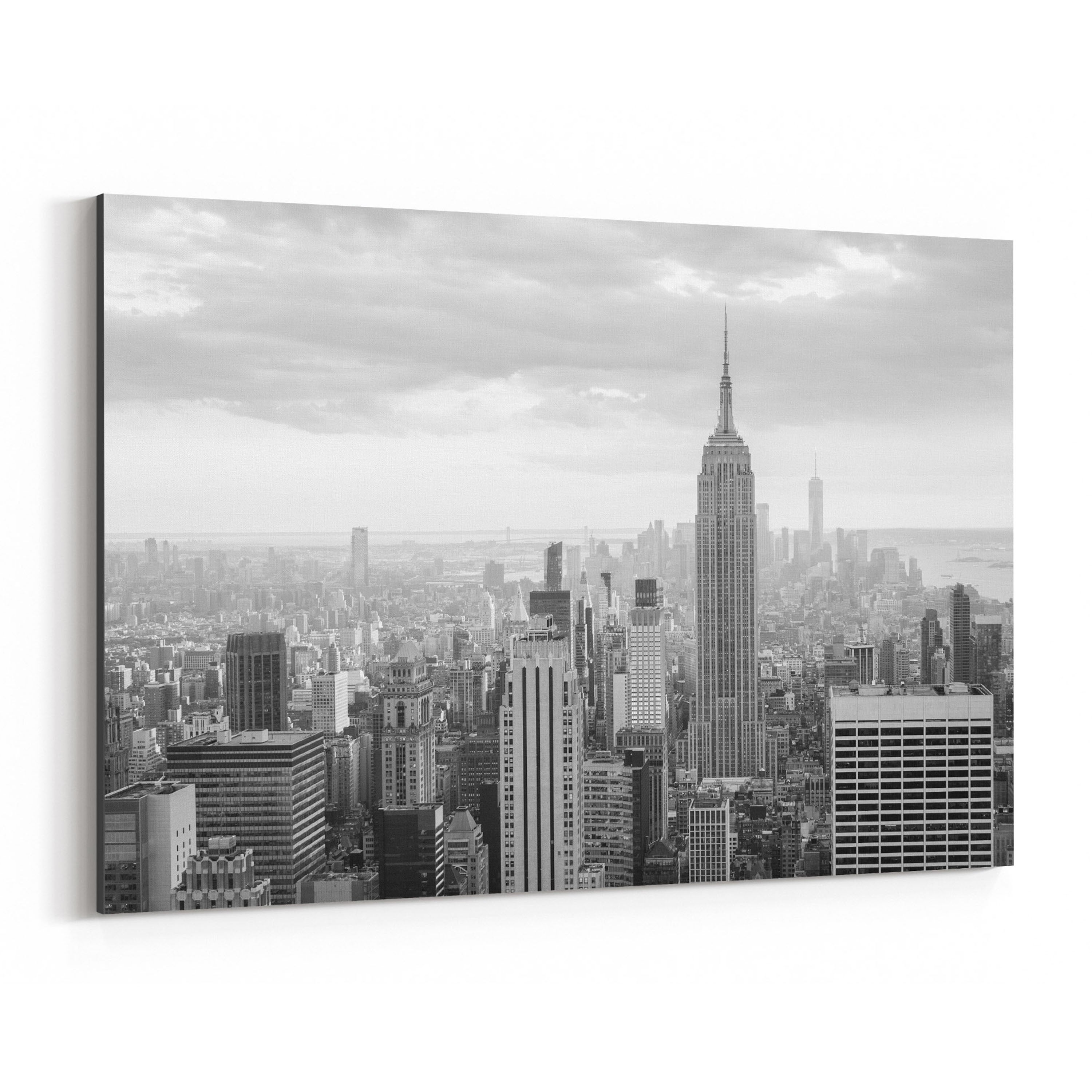Noir Gallery Black White New York Skyline Nyc Canvas Wall Art Print