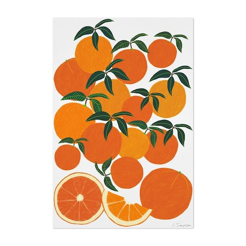 Noir Gallery Orange Citrus Fruit Food Kitchen Unframed Art Print/Poster