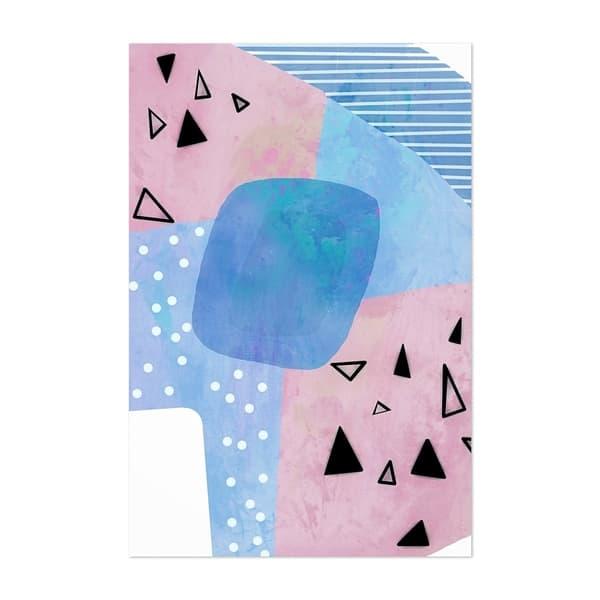 Noir Gallery Abstract Geometric Shapes Unframed Art Print Poster