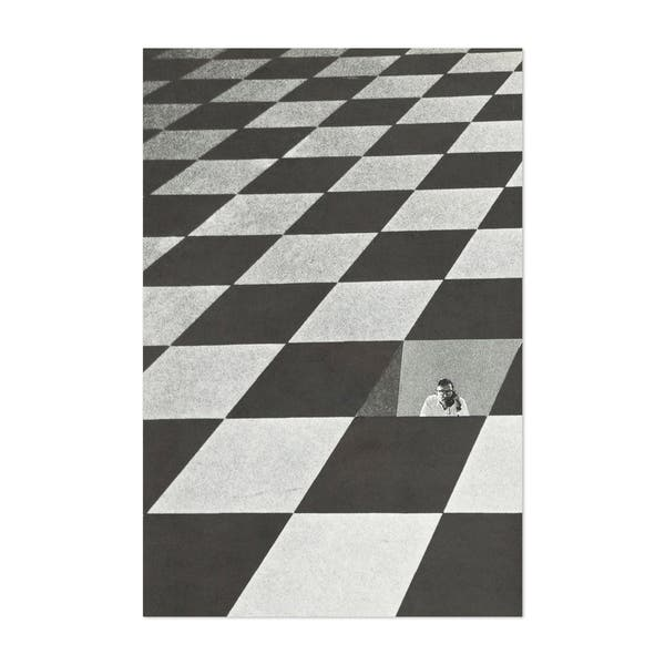 Noir Gallery Abstract Geometric Illusion Unframed Art Print Poster