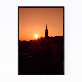 Noir Gallery Bern Switzerland City Sunset Framed Art Print