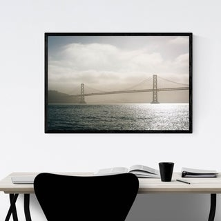 Noir Gallery San Francisco Oakland Bay Bridge Framed Art Print