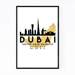 Noir Gallery Minimal Dubai Skyline Framed Art Print